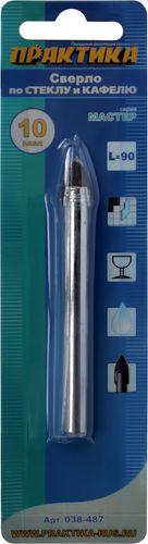 Сверло по стеклу ПРАКТИКА, 10x90 мм