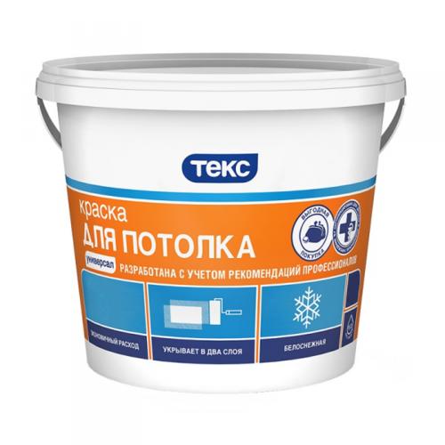 Краска в/д для потолка ТЕКС УниверсалТЕКС Универсал, 3 кг