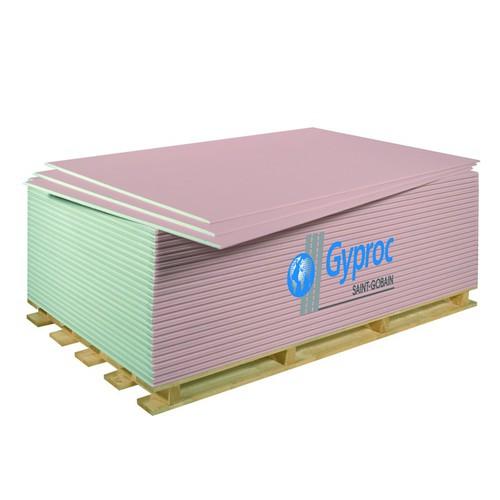 Гипсокартон огнестойкий GYPROC, 1200х2500х12,5 мм