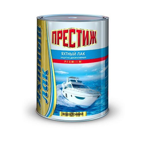 """Лак яхтный матовый """"Престиж"""" бесцветный 0,9 л."""