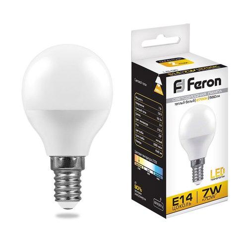 Лампа светодиодная Feron LB-95 Шарик E14 7W 2700K