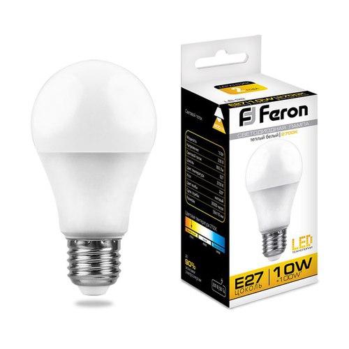 Лампа светодиодная Feron LB-92 Шар E27 10W 2700K