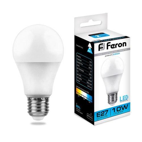 Лампа светодиодная Feron LB-92 Шар E27 10W 6400K