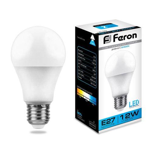 Лампа светодиодная Feron LB-93 Шар E27 12W 6400K