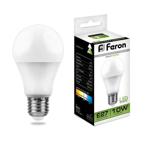 Лампа светодиодная Feron LB-92 Шар E27 10W 4000K