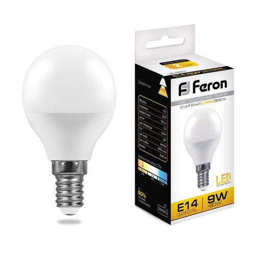 Лампа светодиодная Feron LB-550 Шарик E14 9W 2700K