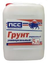 Грунтовка акриловая универсальная ПСС, 5 л.