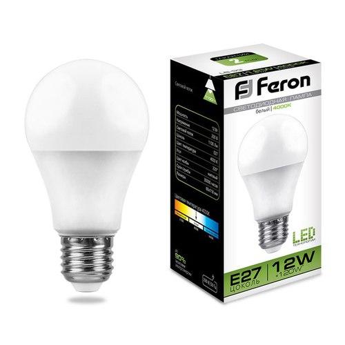 Лампа светодиодная Feron LB-93 Шар E27 12W 4000K