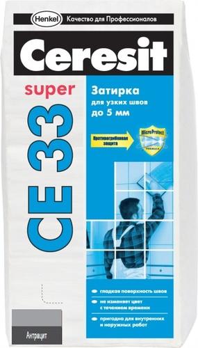 Затирка Ceresit CE33 антрацит, 2 кг