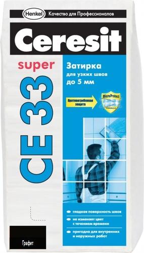 Затирка Ceresit CE33 графит №16, 2 кг.