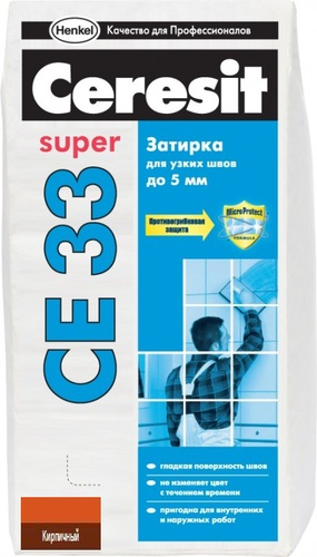 Затирка Ceresit CE33 кирпичная, 2 кг