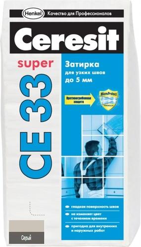 Затирка серая CE33 CERESIT, 2 кг
