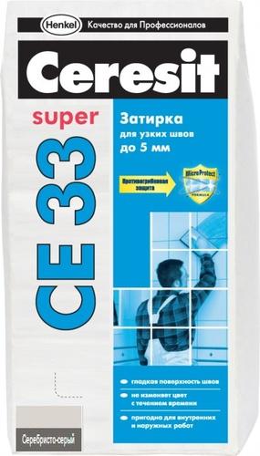 Затирка Ceresit CE33 серебристо-серая №4, 2 кг