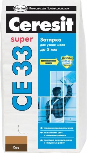 Затирка Ceresit CE33 сиена, 2 кг.